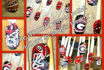 Sports inspired nail art