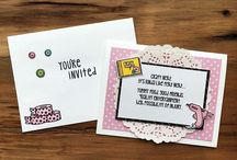 Invitation Cards / DIY Invites: Craft Night, Party, Game Night, Family time, Dinner