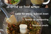 Wormen boederij maken compost
