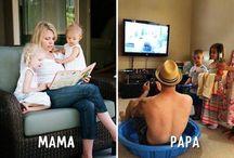 CON MAMA Y CON PAPA / 6 diferencias entre madres y padres que te harán reír.