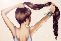 fille cheveux dessin