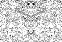 Dibujos para colear para adultos / Diferentes dibujos para colorear pensados especialmente para adultos / by hogarmania