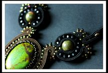 AgaSutasz handmade jewellery / Soutache, bead embroidery and shibori jewellery