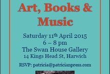 Art and Books - three unique events with Charlie Johnson, artist. / April at Swan House Gallery, Harwich. June at Pop-up Gallery, Vernasca. September at Gli Eroici Furori Gallery, Milan.