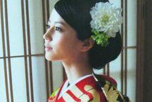 Hair arrange for kimono