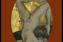 Nuduri.2/Nudes.2/Nus.2/Akte./Nudi.2 / Gravuri. Nud sau nuduri, compozitii simple in sensul studiului de tehnica sau anatomie.