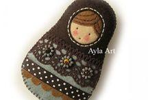 матрешка matroshka matryshka babushka cute doll matrioshka nestingdolls matryoska / рукоделие хендмейд handmade русский стиль