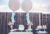 Pink & Mint & Gold Party ♡ Sweet Tables / Lovely Sweet Tables in pink, mint, gold