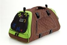 Pet Travel Accessories + Pet Carriers / Fashionable pet carriers and travel accessories to make traveling with your pets safe, easy and in style!