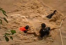 Op het nippertje gered na overstromingen (video)