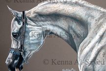 Horses in Colored Pencil