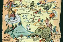 Maps / Maps from books, games, literary maps, imaginary places... / by Claire Giard