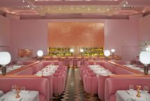 Pink and red restaurant