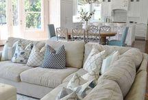 Interior design.  Fabrics. Windows