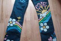 jeans dipinti