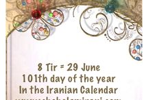 8 Tir = 29 June / 101th day of the year In the Iranian Calendar www.chehelamirani.com