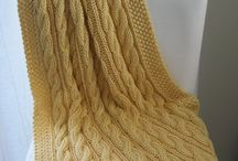 Knitted cable throw