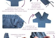 Kötött bébi ruhák,kabátot,nadrágok / Minták