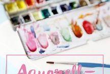 aquarell Zeichnungen
