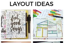 Bullet Journal Ideas / My new obsession - bullet journaling. Bullet journal layouts, ideas, and inspiration. Plus cool supplies for how to start a bullet journal !
