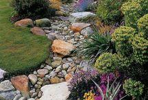 river stone garden ideas