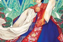 dessin de femmes asiatiques