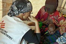 Aide workers in Africa / Aide workers in Africa. Reference for still
