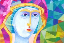Polish Madonnas icons / Madonna icons for sale in vivid bright colours