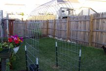 Homemade rose trellis / by Connie Burgdorf