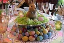 Bunny 2 tier centerpiece