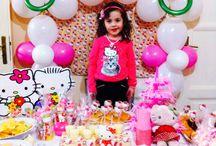 Festa / Festa compleanno tema Hello Kitty.
