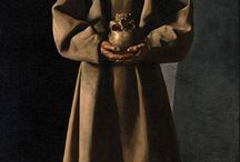 Francisco de ZURBARÁN / Francisco de Zurbarán (1598 – 1664) was a Spanish painter. He is known primarily for his religious paintings depicting monks, nuns, and martyrs, and for his still-lifes. Zurbarán gained the nickname Spanish Caravaggio, owing to the forceful, realistic use of chiaroscuro in which he excelled.