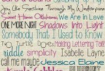 Hand lettering, jurnals etc