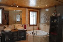 Bathrooms - Timber Block Engineered Wood Homes / There are hundreds of Timber Block Insulated Log Homes built all over the world, and each one is completely different from the other. Whether it's a change in the floor plan, or interior design, searching for your perfect home is made easy with Timber Block. www,timberblock.com