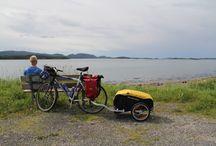 Walking,bicycling and camping