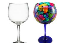 Painted glass items / Ideas for painting on glass / by Angie Banks
