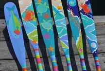 Hand Painted Oars and Paddles / by ATTITUDE ADJUSTMENT - Marty Whitney