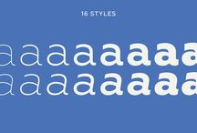 DESIGN | Fonts Sans / A collection of Sans Serif fonts that serve as an inspiration