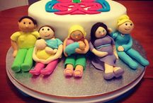 Allaitement La Leche League / Breastfeeding Leche League cake / pâte à sucre fondant leche league réalisé à  l'occasion d'une réunion  <3