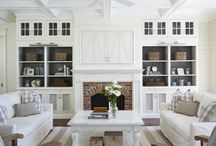 Hampton style living room