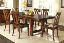 Table & Chair Sets / These come with an entire package deal. They range anywhere from a 3 piece to a 9 piece set. The table & chair sets comes in many finishes, styles, and shapes to fit into anyone's home.
