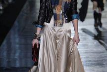 silk skirt / leather jacket1./2.dim