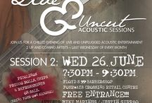 Event Posters / These are the event invites and posters for all our Live and Uncut Acoustic Sessions