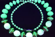 Jewelry / Schmuck / Uranium Glass / Uranglas