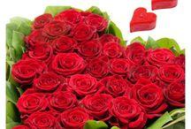 Valentine Heart Shaped Rose arrangement