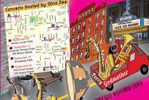 Newburgh Jazz-Go-Round 2013 / Jazz concert in city of Newburgh neighborhood, streets and playgrounds