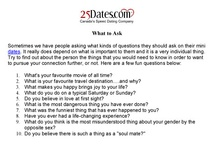What to Ask During a Speed Date with 25Dates.com. / Stumped for something to say during a 25Dates.com speed dating session?  Some dating tips here for you.