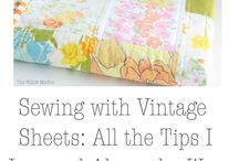 Vintage Sheet Inspiration / Vintage Sheet ideas, projects and patterns