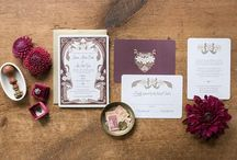 Wedding Invitation Trends for 2018 / Floral wedding invitations with pops of color and a hint of vintage romance are going to be hot for the coming year!  English countryside is going to be strong this year with the upcoming Prince Harry wedding in Windsor as well.