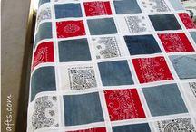 Джинсовые одеяла